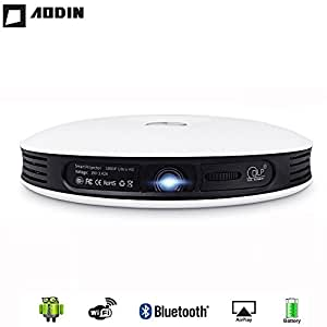 AODIN Electropolis AodinM18 Ultra 4K LED 3D Dlp Projector 1500 Ansi Lumens 300 Inches Home Cinema 1280X800 Native Support (Aodin-M18TTL)
