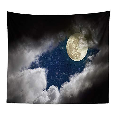 Nuit étoilée Tapisserie Lune Décorative Tenture Murale Plage Couvrez-Vous Nappe,150x120cm par Anliyou