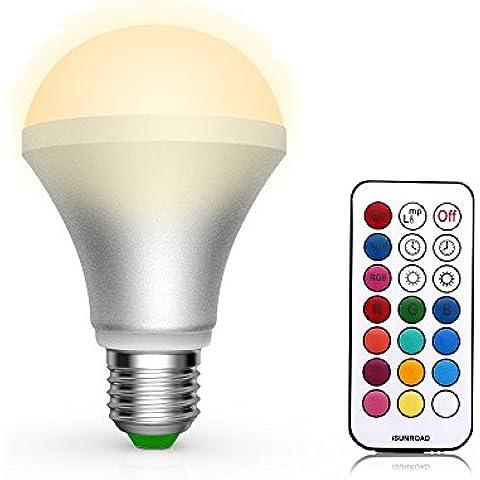 Quarice®Led Bombilla E27 10W 13 Colores cambiantes por Mando a distancia Luz Decorativa / Uso Diario Bluetooth Mando a distancia-Blanco