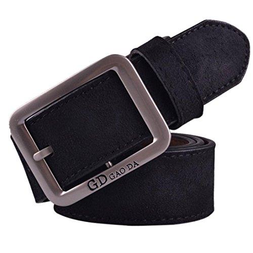 Preisvergleich Produktbild WOCACHI Herren Gürtel Mens beiläufige Waistband Leder automatische Schnalle Gürtel Hüftgurt Gürtel (Schwarz)