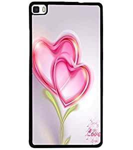 ColourCraft Love Hearts Design Back Case Cover for HUAWEI P8
