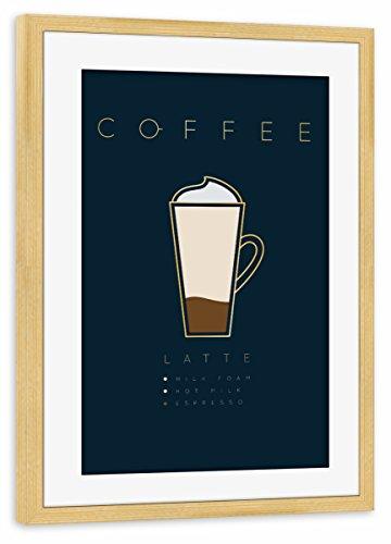 artboxONE Poster mit Rahmen kiefer 60x40 cm