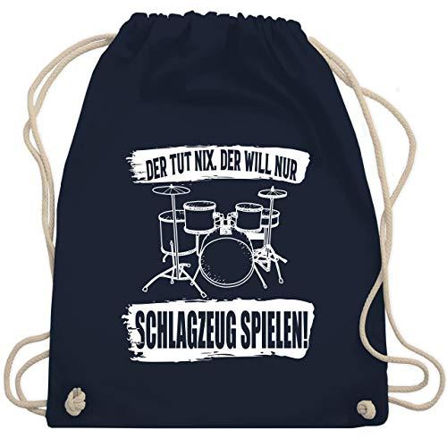 Instrumente - Der tut nix. der will nur Schlagzeug spielen. - Unisize - Navy Blau - WM110 - Turnbeutel & Gym Bag