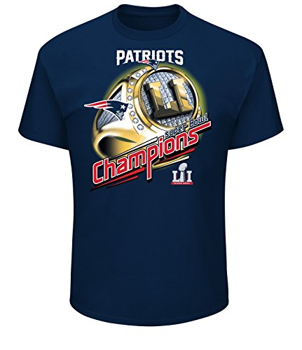 NFL New England Patriots Herren Super Bowl LI Mark of Honor Tee, Größe S, Athletic Navy (Patriots T-shirts Super Bowl)