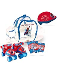 The Amazing Spider-man Quad Skates Set Quads Skates Protective Helmet/pads & Bag by The Amazing Spider-Man