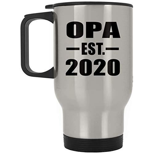 Designsify Opa Established EST. 2020 - Silver Travel Mug Reisetasse Edelstahl Isolierter Tumbler Becher - Geschenk zum Geburtstag Jahrestag Muttertag Vatertag Ostern Opa Womens Cap