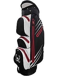 Golftasche, 100% wasserdicht–weiß/schwarz/rot