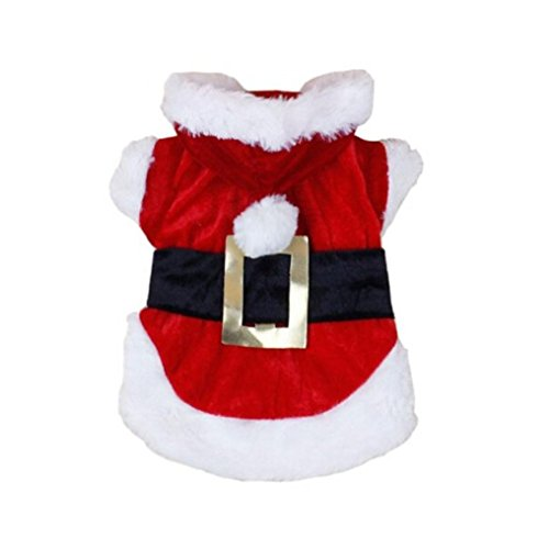 Pet Clothes,Ouneed ® Christmas Dog Puppy Clothes Santa Costumes Pet Apparel Outfit Suit