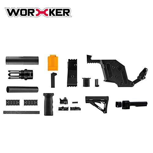 WORKER Kriss Vector Imitation Modified Kit Special for Nerf Stryfe Modify Toy black
