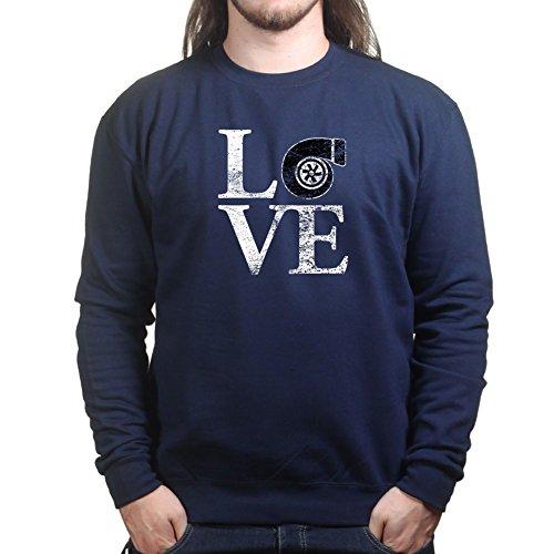 MensLoveTurboCarsRacingDriftingSweatshirtNBL S Navy Blue