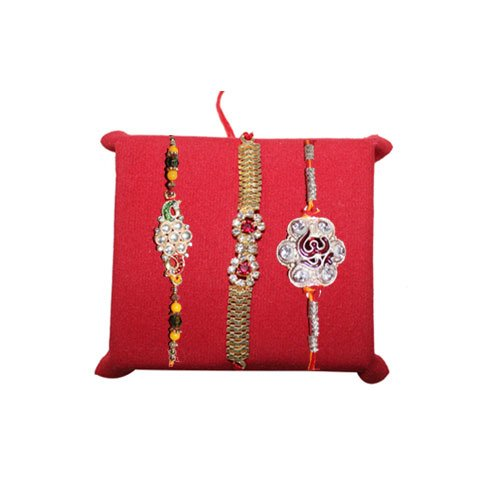 handicrunch-rakhi-set-of-3-cute-pair-silver-stone-rakhi-set-with-haldiram-rasgulla