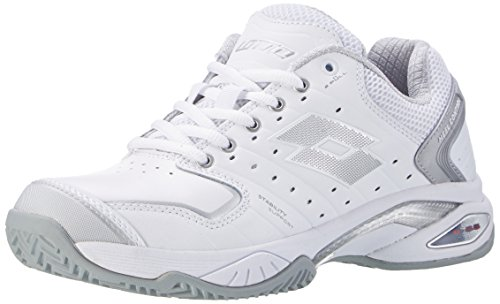 Lotto Raptor Lth Cly, Baskets Blanches Pour Femmes (wht / Slv Mt)