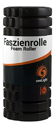 Faszienrolle MYO von seeLight - Hochwertiges Foam Roller Set zur Selbstmassage z.B. gegen Rückenschmerzen, Verspannungen und Muskelkater, 33 x 14 cm