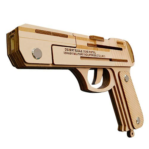 Unbekannt Desert Eagle Rubber Band Guns Boxed 3D-Holzmodell DIY Dreidimensional Puzzle Panel (Die Eagles Sind Zurück)