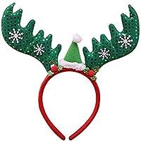 kentop Navidad Cinta Reno Headwear Unisex Pelo para adultos y niños Diadema  Pasador de Pelo para Navidad Disfraz. 0d132fe94d2