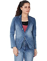 FCK-3 Women's Cloud Wash Silky Stretch Denim Jacket- Long Sleeves