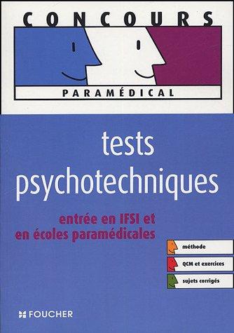 Tests psychotechniques, entrée en IFSI