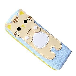 Comfysail lindo gato Estuche Escolar Portalápices Artículo de papelería con un cierre de cremallera Ideal para Estudiantes para lápices o maquillaje