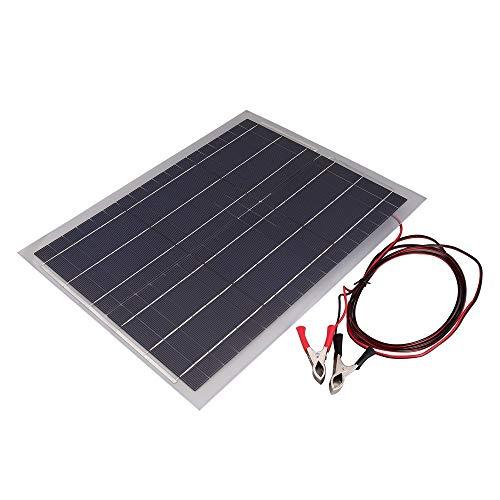 JesseBro76 Leichtes Solarmodul Flexibles 18V20W-Solarsystem Photovoltaik-Solarmodul transparent und grau