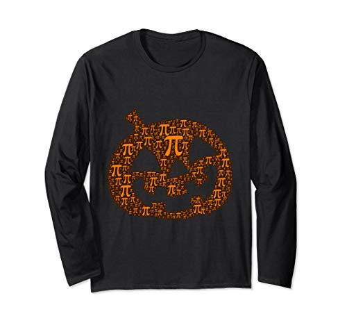 Halloween Math Pun Kürbis Pi Jack O' Laterne Lustiges Kostüm Langarmshirt (Kürbis Kostüm Pi)