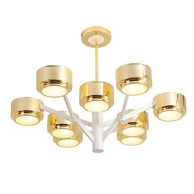 SDKKY Persönlichkeit modernen minimalistischen Kronleuchter Deckenlampe, 110-120 V, Gold