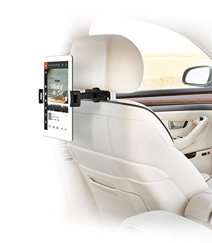 IBRA iPad Auto Halter,Auto Kopfstütze Montieren mit 360 Grad Drehung zum iPad Air/Pro, Surface, Samsung Galaxy und Mehr 4.7''-12.9