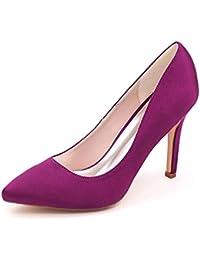 Elegant high shoes Femme Chaussures De Mariage En Cristal Soir/Plate-Forme/Confort/Nouveauté/& Peep Toe/Nuit 9920-06A, purple, 42