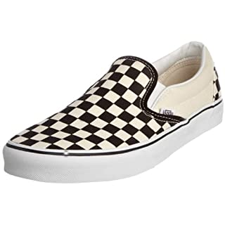 Vans U Classic VEYEBWW Unisex-Erwachsene Sneaker, Schwarz (black and white checker/white), EU 38.5 (US 6.5)