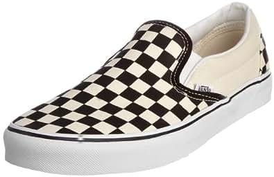 Vans U Classic VEYEBWW Unisex-Erwachsene Sneaker, Schwarz (black and white checker/white), EU 34.5 (US 3.5)