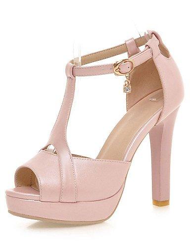 LFNLYX Chaussures Femme-Habillé / Soirée & Evénement-Noir / Rose / Blanc / Beige-Talon Aiguille-Talons / A Plateau / Bout Ouvert-Sandales- Pink