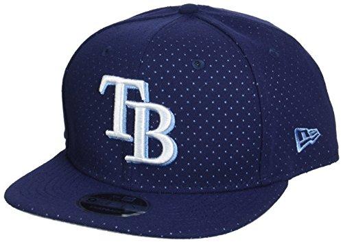 New Era Herren Snapback 9FIFTY Color Peek Tampa Bay Rays MLB Cap, Navy (Tampa Bay Rays Baseball)