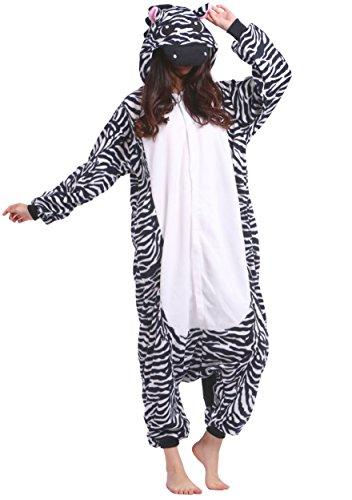 Unisexe Adulte Animal Cosplay Kigurumi Pyjama pour taille 140-187 cm - Zèbre