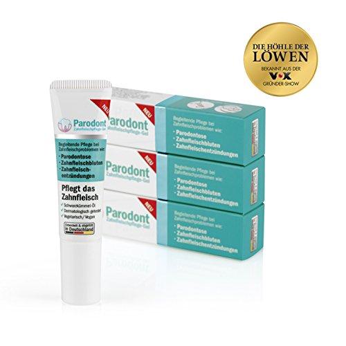 Beovita 00063 Parodont Gel Zahnfleischpflege 3 x 10 ml | Bei Parodontose, Zahnfleischbluten, Zahnfleischentzündungen | Vegetarisch/Vegan | Gel Gegen Parodontitis | Dermatologisch Getestet