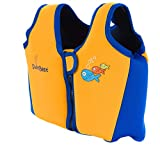 SwimBest Premium Swim Jacket (Orange/Blue, 3-4 Years)