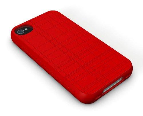 XtremeMac IPP-TW5-53 Tuffwrap Lime Green Silikon-Schutzhülle für Apple iPhone 4/4S grün rot