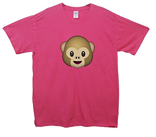 Monkey Emoji T-Shirt Rosa