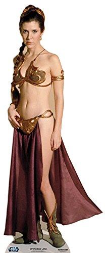 (Pappaufsteller Prinzessin Leia a J Slave - Star Wars Standup Figur Kinoaufsteller Pappfigur Cardboard Lebensgroß Life-Size Standup)