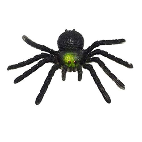 kuangkk Halloween-Spinnen mit Langen Zähnen für Party-Requisiten Dekoration Horror-Witz Spielzeug, Plastik, Schwarz, 15cmx10cmx5cm