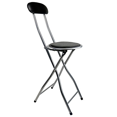 oypla-black-padded-folding-high-chair-breakfast-kitchen-bar-stool-seat