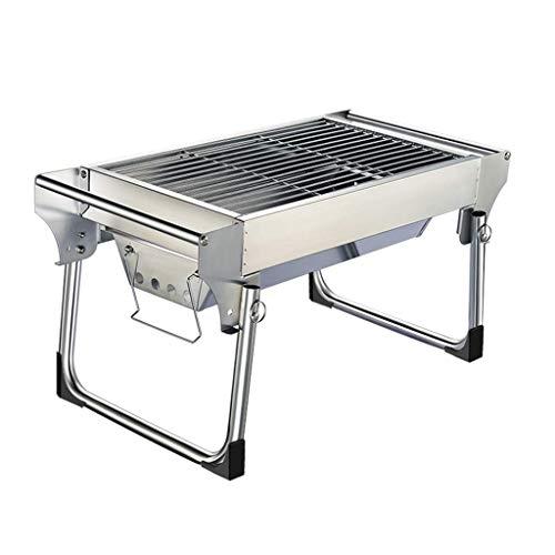 ZHJSKJ Familientreffen/Barbecue im Freien Outdoor-Holzkohlegrill, Schreibtisch Edelstahl Folding BBQ Grill Camping Gartengrill BBQ Utensil Outdoor Party Folding Utensil Set