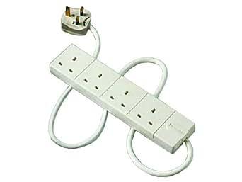 Masterplug BFG2 4-Gang 13 A Fused Socket with 2 m Extension Lead