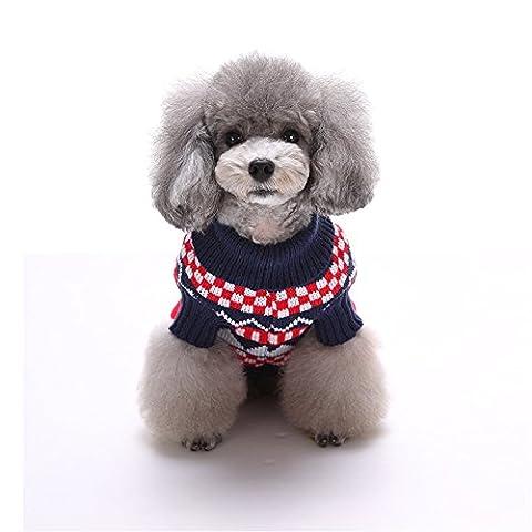 Uni Meilleur de Noël pour chien en tricot Pull Manteau chaud Kintted Doggie Halloween Capuche Apparel