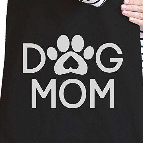 365 Printing inc , Borsa da spiaggia  Donna MamaBird - Black Dog Mom - Black