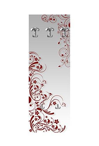Appendiabite da parete in legno 3 ganci + 2 portaborse vezzani modern flowers red