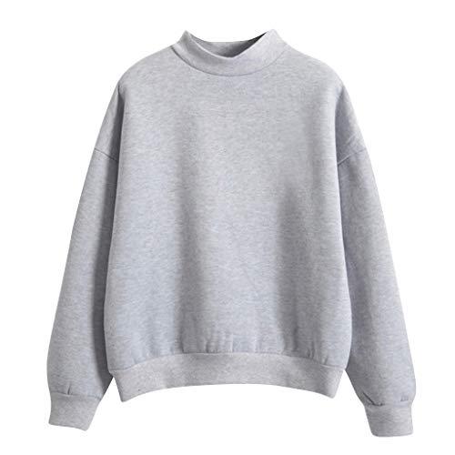 Damen Elegant Bluse Sweatshirt Langarm Shirt Pullover Oberteile, ◆Elecenty◆ Langarmpullover Langarmshirt Sweatshirts Tee Sportbekleidung Rundhals - Base Jumper Kostüm