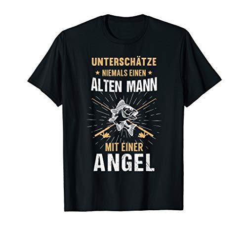 Herren Angler Fischer Angel T-Shirt | Papa Geburtstag Geschenk -