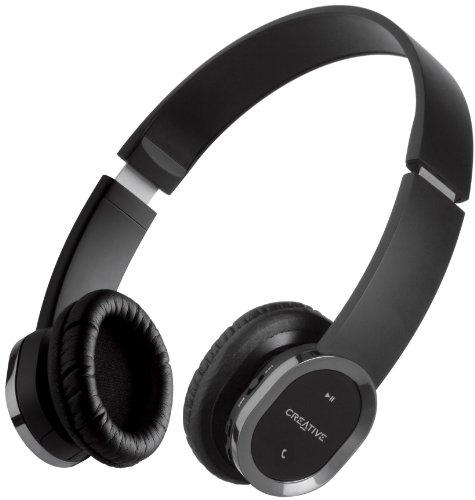 Creative Labs WP-450 - Auriculares de diadema abiertos Bluetooth (Inalámbrico, con micrófono,...