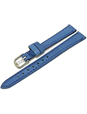 Meyhofer Uhrenarmband Alvesta 14mm blau abgenäht vegetabil MyHeklb27/14mm/blau/TiT
