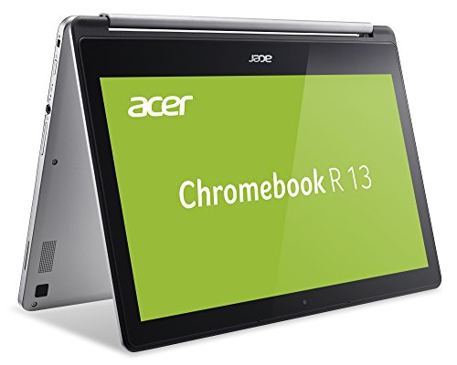 Acer Chromebook R 13 (13,3 Zoll Full-HD IPS Multi-Touch, 360° Convertible, Aluminium A- & D-Cover, 15mm flach, bis zu 12h Akkulaufzeit, lüfterlos, HDMI, USB 3.1 (Type-C), Google Chrome OS) Silber