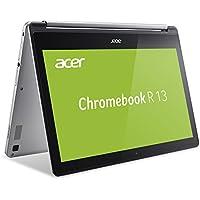 Acer Chromebook R 13 (13,3 Zoll Full-HD IPS Touchscreen, 360° Convertible, 15,5mm flach, extrem lange Akkulaufzeit, schnelles WLAN, SD Slot, HDMI, Google Chrome OS) Silber